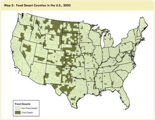National Food desert map