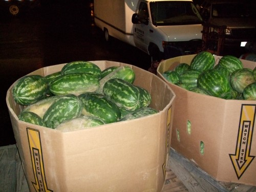 Fifty enormous watermelons, $2 each